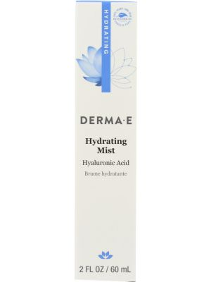 DERMA E: Hydrating Mist with Hyaluronic Acid, 2 oz