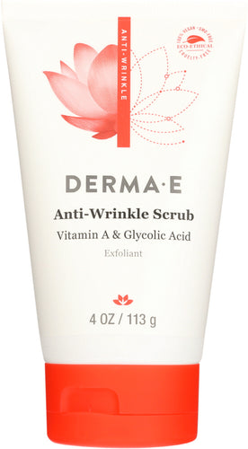 DERMA E: Anti-Wrinkle Vitamin A and Glycolic Scrub, 4 oz