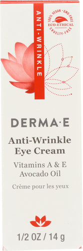 DERMA E: Anti-Wrinkle Eye Cream Vitamin A, .5 oz