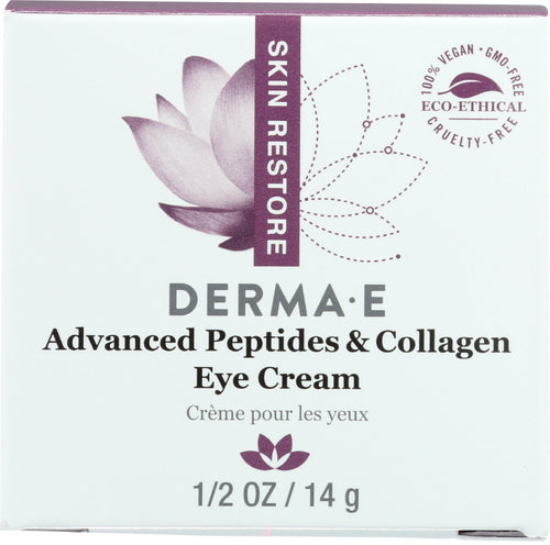 DERMA E: Deep Wrinkle Reverse Eye Creme with Peptides Plus, 0.5 oz