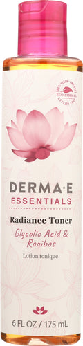 DERMA E: Essentials Radiance Toner, 6 oz
