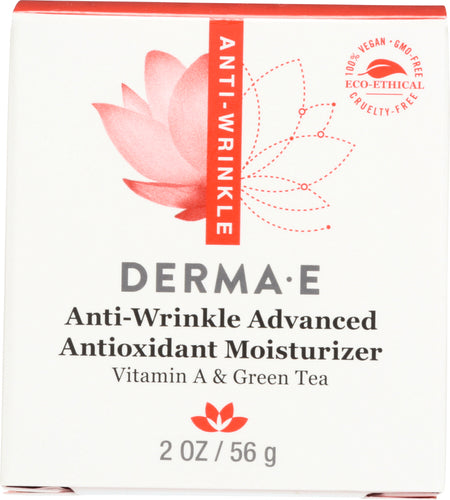 DERMA E: Anti-Wrinkle Advanced Antioxidant Moisturizer Vitamin A & Green Tea, 2 oz