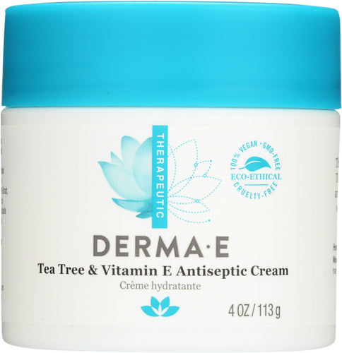 DERMA E: Tea Tree and E Antiseptic Creme, 4 oz
