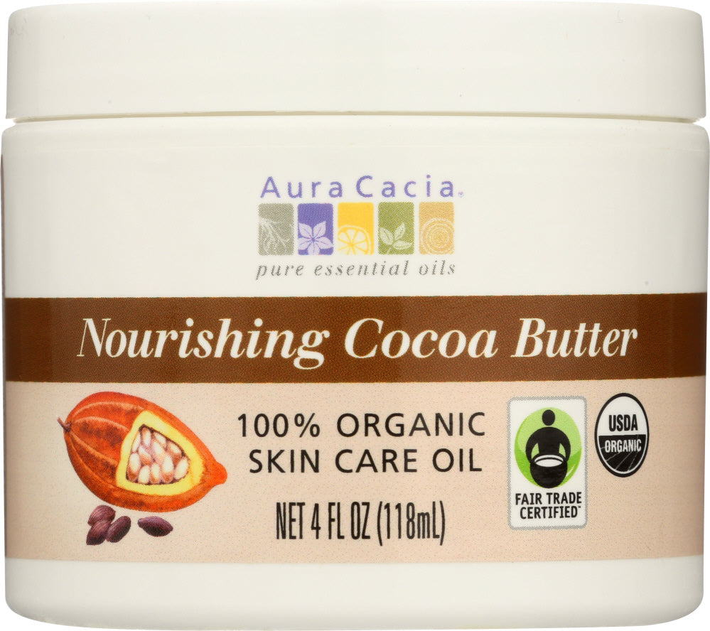 AURA CACIA: Cocoa Butter Org 4 oz - One Body Beauty