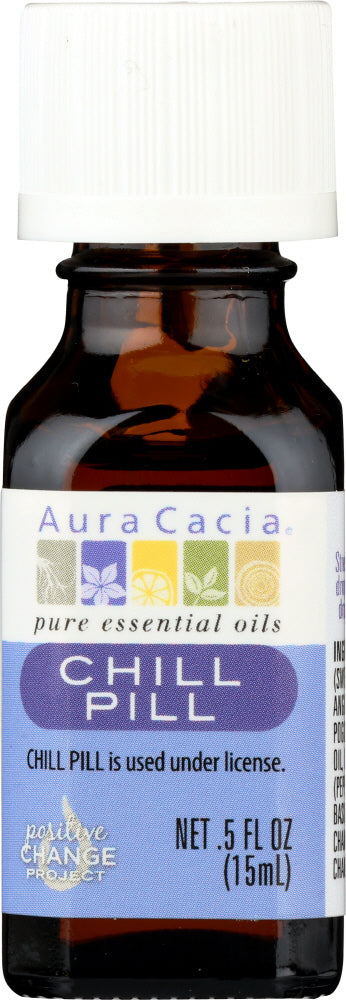 AURA CACIA: Essential Solutions Chill Pill 0.5 oz - One Body Beauty