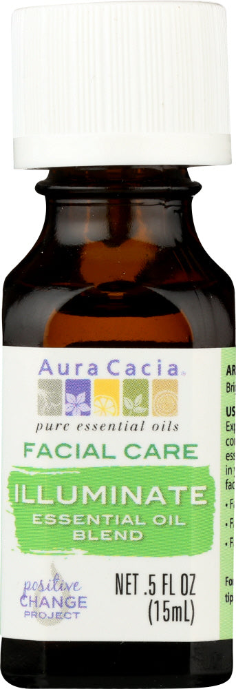 AURA CACIA: Essential Oil Facial Illuminate 0.5 oz - One Body Beauty
