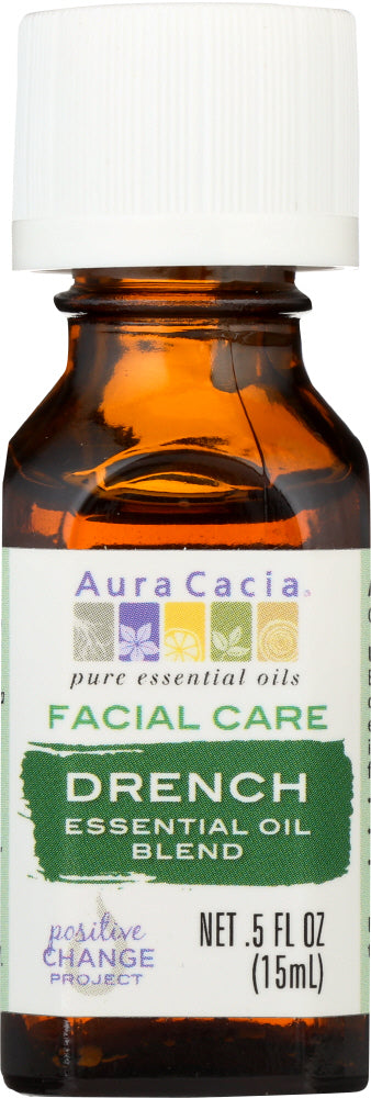 AURA CACIA: Essential Oil Facial Drench 0.5 oz - One Body Beauty