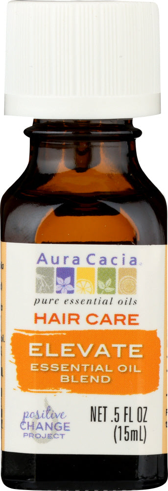 AURA CACIA: Essential Oil Hair Care Elevate 0.5 oz - One Body Beauty