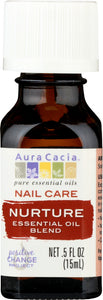 AURA CACIA: Essential Oil Nail Care Nurture 0.5 oz - One Body Beauty