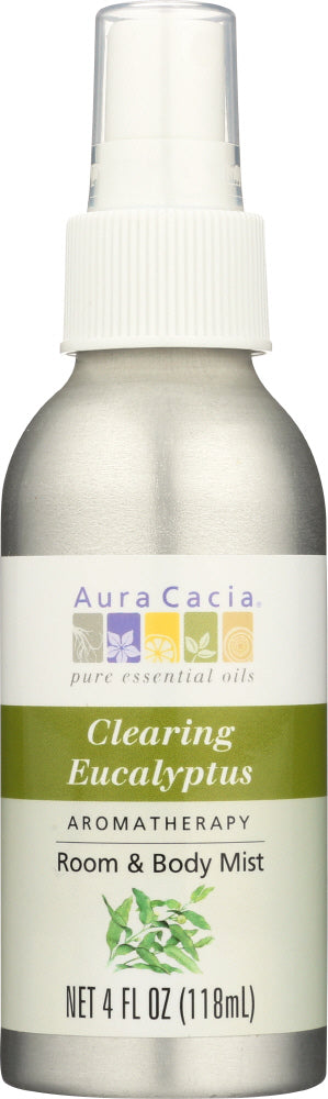 AURA CACIA: Eucalyptus Harvest Aromatherapy Mist, 4 Oz - One Body Beauty