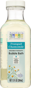 AURA CACIA: Aromatherapy Bubble Bath Tranquil Chamomile, 13 oz - One Body Beauty