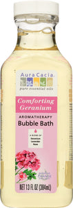 AURA CACIA: Comforting Geranium Bubble Bath, 13 oz - One Body Beauty