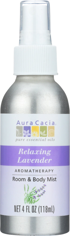 AURA CACIA: Room & Body Mist Relaxing Lavender, 4 oz