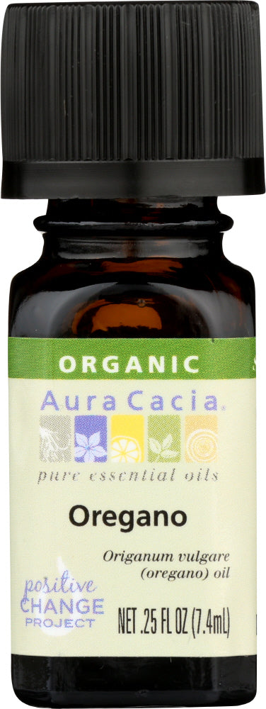 AURA CACIA: Organic Oregano Essential Oil, 0.25 oz