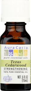 AURA CACIA: 100% Pure Essential Oil Texas Cedarwood, 0.5 Oz - One Body Beauty