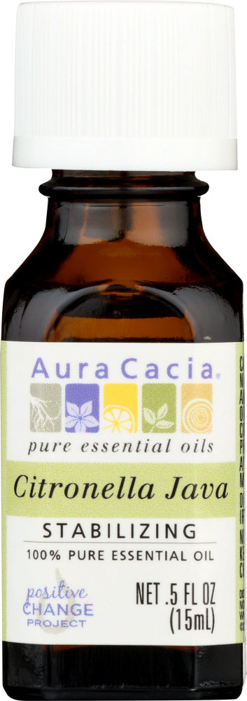 AURA CACIA: 100% Pure Essential Oil Citronella Java, 0.5 Oz - One Body Beauty