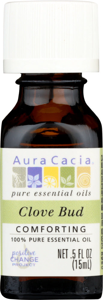 AURA CACIA: 100% Pure Essential Oil Clove Bud, 0.5 Oz - One Body Beauty