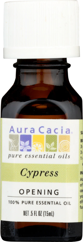 AURA CACIA: 100% Pure Essential Oil Cypress, 0.5 Oz - One Body Beauty
