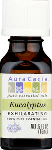 AURA CACIA: 100% Pure Essential Oil Eucalyptus, 0.5 Oz - One Body Beauty