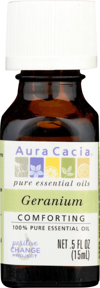 AURA CACIA: 100% Pure Essential Oil Geranium, 0.5 Oz - One Body Beauty