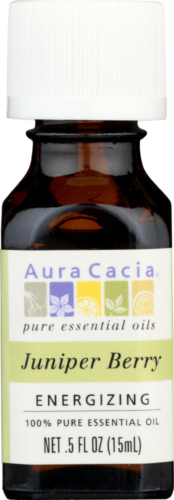 AURA CACIA: 100% Pure Essential Oil Juniper Berry, 0.5 Oz - One Body Beauty