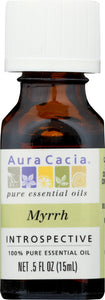 AURA CACIA: 100% Pure Essential Oil Myrrh, 0.5 Oz - One Body Beauty