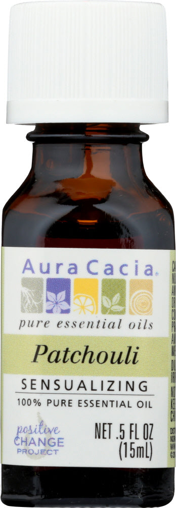 AURA CACIA: 100% Pure Essential Oil Patchouli, 0.5 Oz - One Body Beauty
