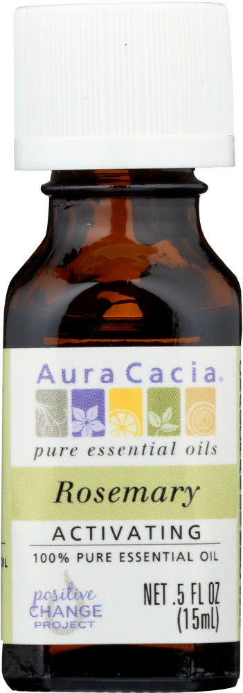 AURA CACIA: 100% Pure Essential Oil Rosemary, 0.5 Oz - One Body Beauty
