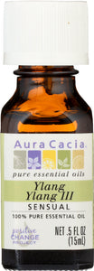AURA CACIA: 100% Pure Essential Oil Ylang Ylang III, 0.5 Oz - One Body Beauty