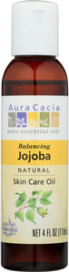 AURA CACIA: Natural Skin Care Oil Jojoba Balancing, 4 Oz