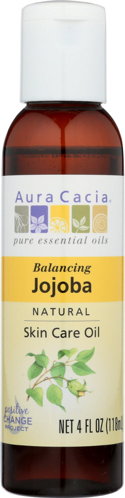 AURA CACIA: Natural Skin Care Oil Jojoba Balancing, 4 Oz - One Body Beauty