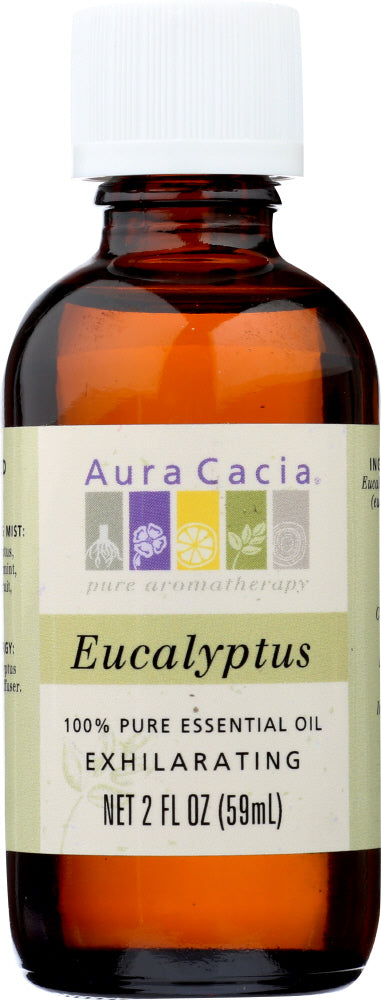 AURA CACIA: 100% Pure Essential Oil Eucalyptus, 2 Oz - One Body Beauty