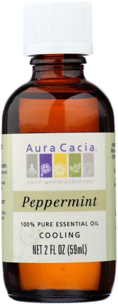 AURA ACACIA: 100% Pure Essential Oil Peppermint, 2 oz - One Body Beauty