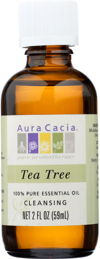 AURA CACIA: Essential Oil Tea Tree 2.0 oz - One Body Beauty