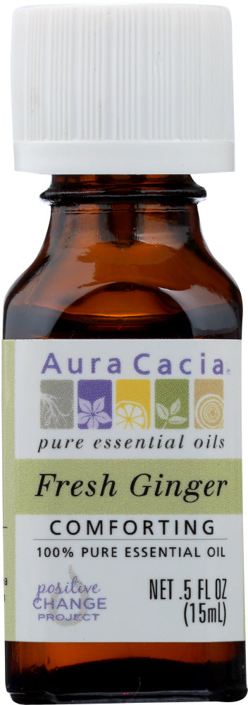 AURA CACIA: Oil Essential Fresh Ginger 0.5 oz