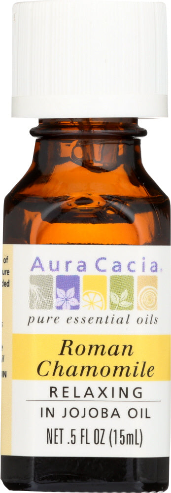 AURA CACIA:  Precious Essential Oil Roman Chamomile 0.5 oz - One Body Beauty