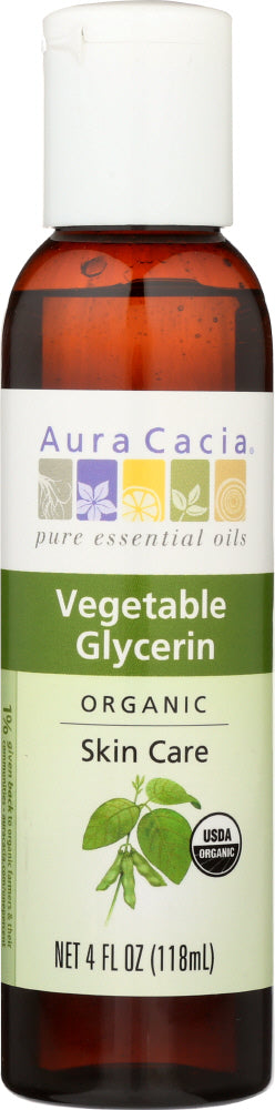AURA CACIA: Organic Vegetable Glycerin, 4 oz