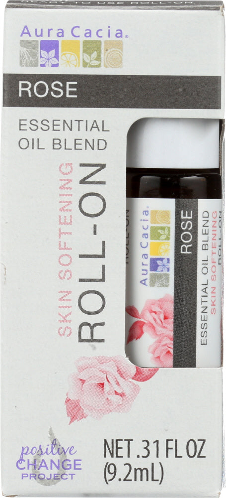 AURA CACIA: Oil Essential Roll-on Rose 0.31 oz