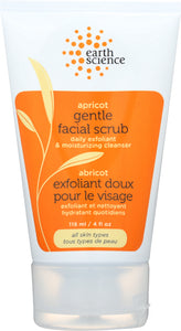 EARTH SCIENCE: Facial Scrub Apricot Gentle, 4 oz