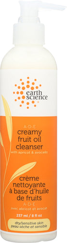 EARTH SCIENCE: A-D-E Creamy Cleanser Dry/Sensitive Skin, 8 oz