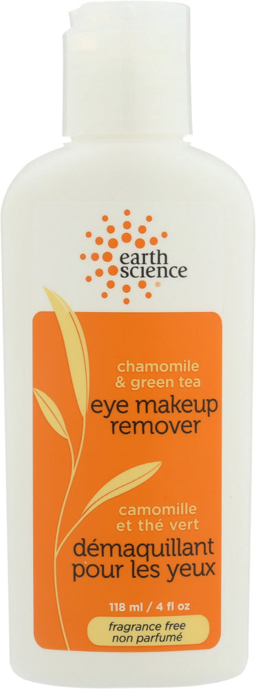 EARTH SCIENCE: Eye Make-Up Remover Chamomile Green Tea, 4 oz