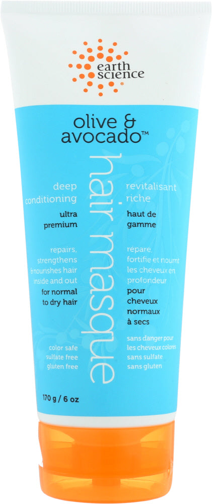 EARTH SCIENCE: Masque Hair Conditioning Deep, 6 oz