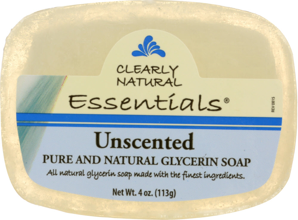 CLEARLY NATURAL: Unscented Pure And Natural Glycerine Soap, 4 oz