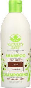 NATURES GATE: Daily Cleanse Shampoo Herbal, 18 oz
