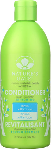 NATURES GATE: Biotin + Bamboo Enriching Conditioner, 18 oz