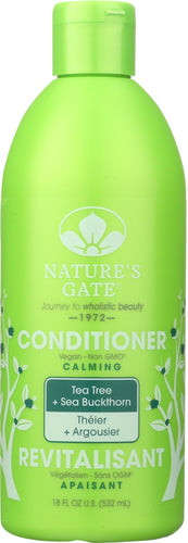 NATURES GATE: Calming Conditioner Tea Tree + Sea Buckthorn, 18 oz