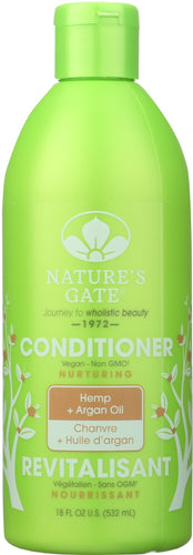 NATURE'S GATE: Nourishing Conditioner Hemp + Argan Oil, 18 oz