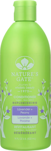 NATURES GATE: Conditioner Lavender Peony, 18 oz