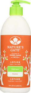 NATURE'S GATE: Moisturizing Lotion Oatmeal, 18 oz