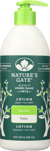 NATURE'S GATE: Moisturizing Lotion Tea Tree, 18 oz